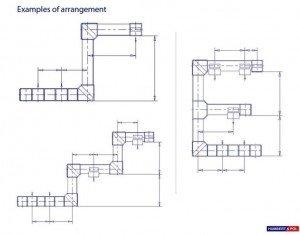 שרטוט מבנה המאפשר לוגיסטיקה אידיאלית וניצול מירבי של השטח הפנוי, בהתאם