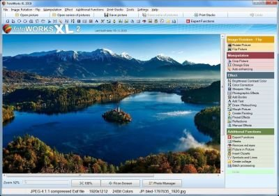 Photo editing software with many helpful features to edit snapshots