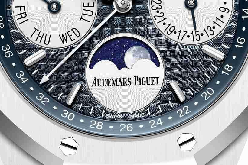 Replica Uhren Audemars Piguet Royal Oak Ewiger Kalender Weiße Keramik