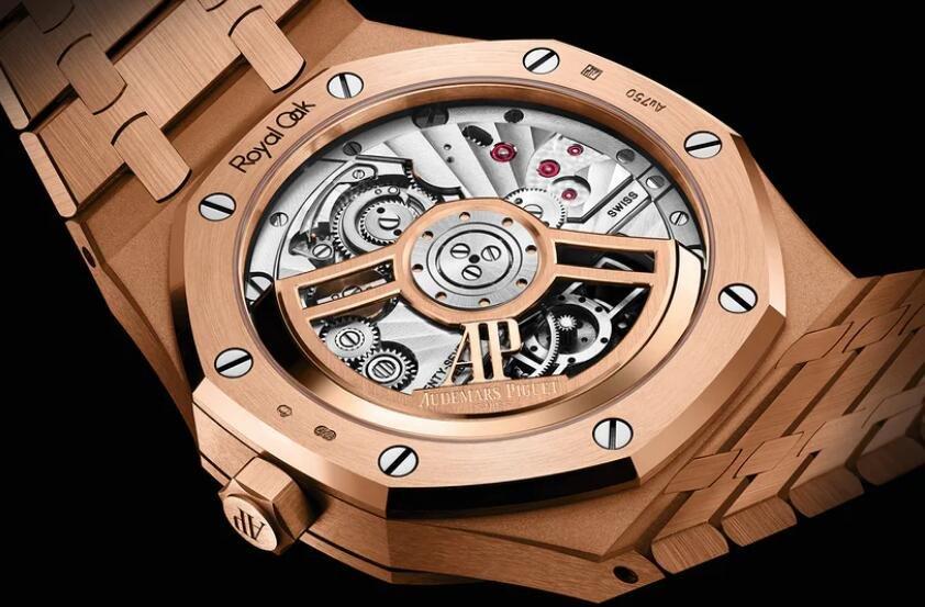 Replika Uhren Audemars Piguet Royal Oak Automatisches Fliegen Tourbillon 18 Karat Rotgold 3