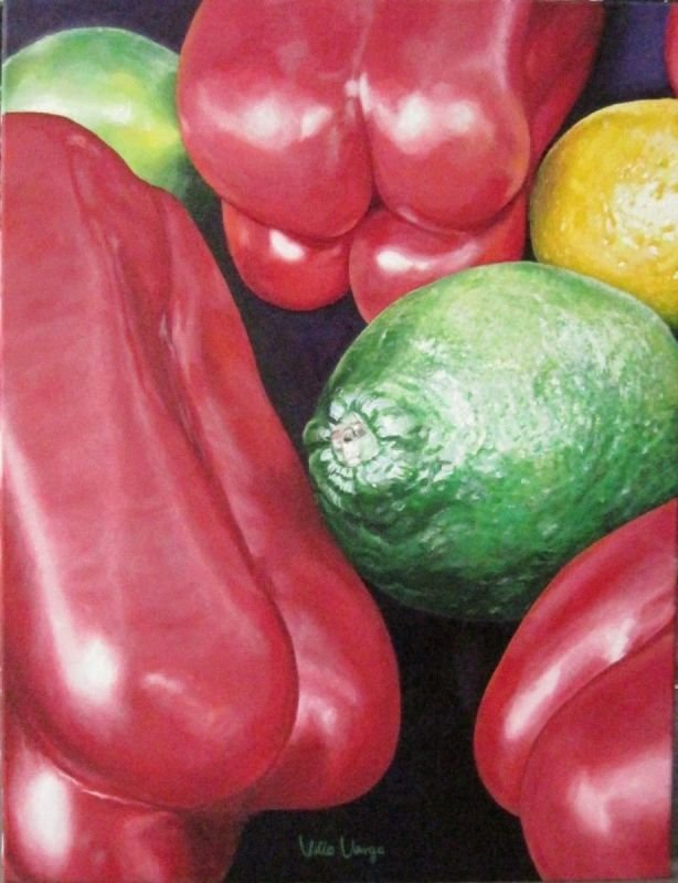 Peppers and citruses  -  Naughty peppers