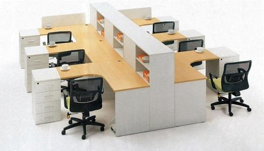 Comfortable workplace desk and chair