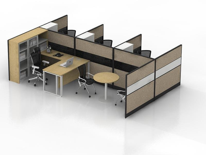 Screen partition office desk