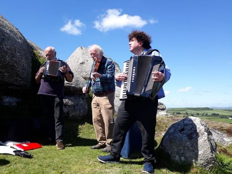 The start of the Rescorla Festival at Helman Tor.