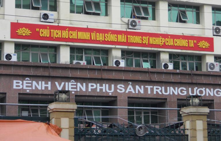 Bệnh viện phụ sản Trung Ương là một trong những địa chỉ khám chữa bệnh phụ khoa cho chị em