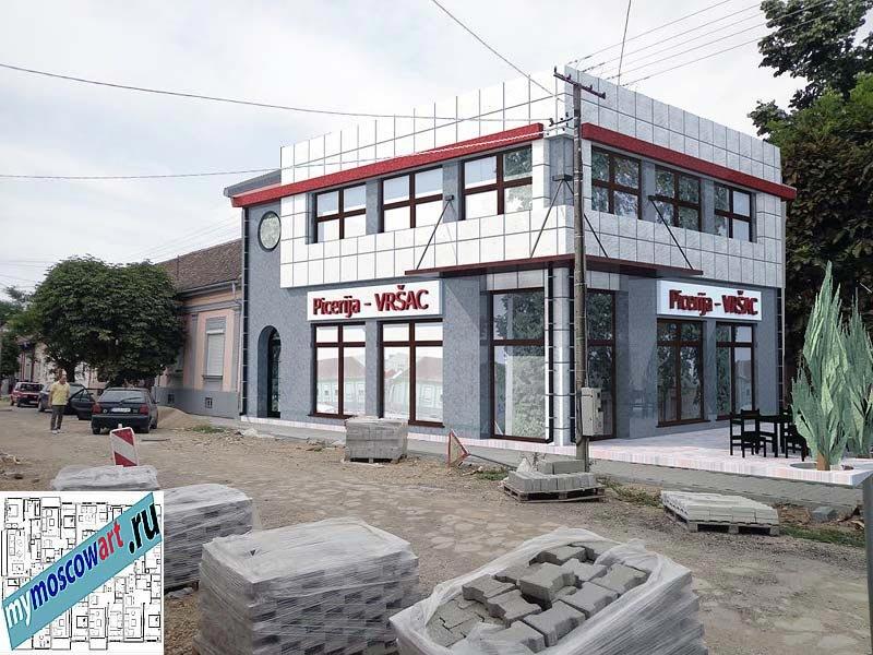Проект бизнес-жилого дома - Цветкович