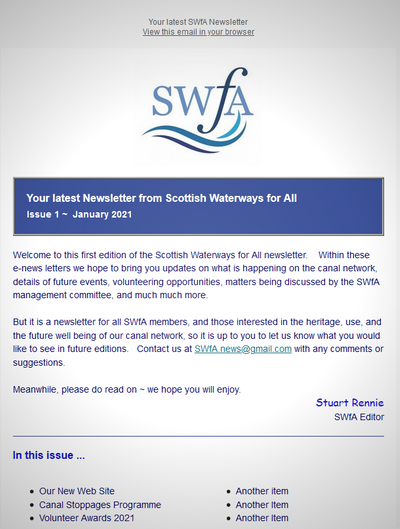 SWfA News Letter