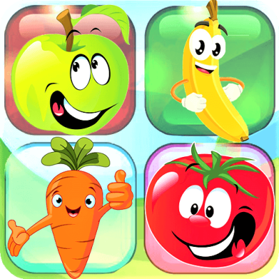 Jeu de mémoire - Match de cartes puzzle (Fruits)
