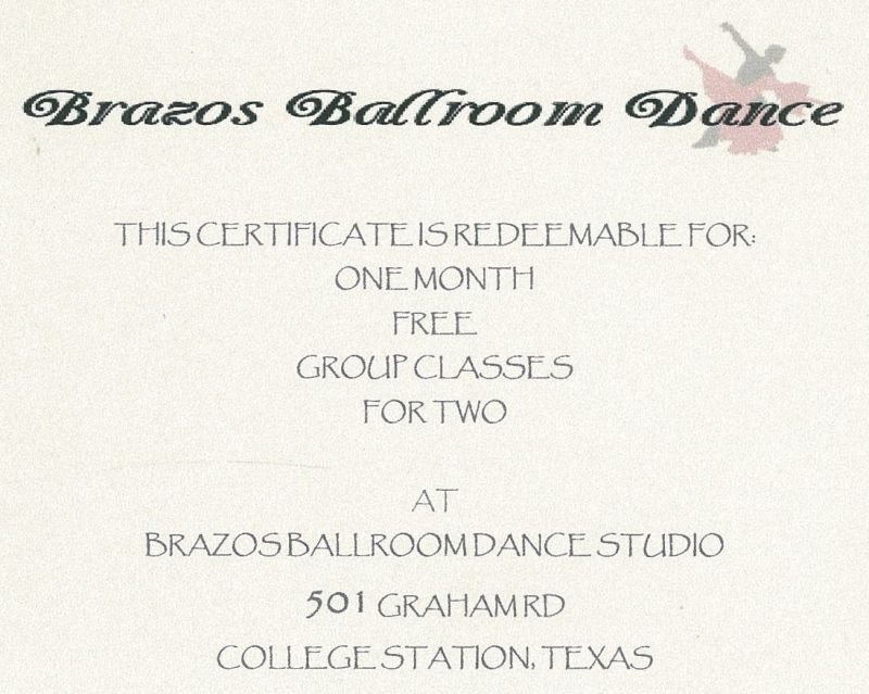 One Month Group Dance Lessons for 2